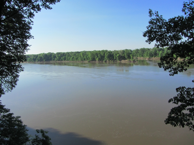 Missouri River from lower deck