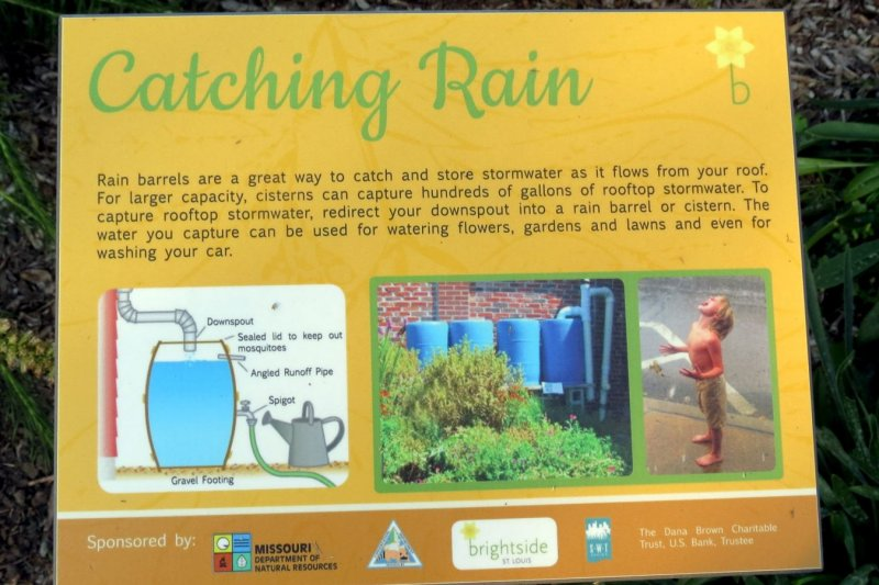 Catching rain sign
