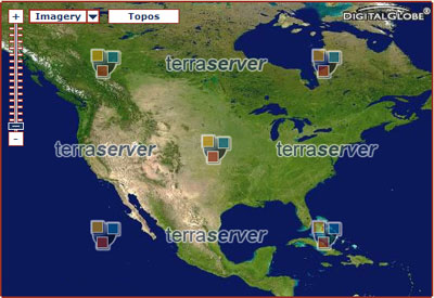 Map image from Terraserver website
