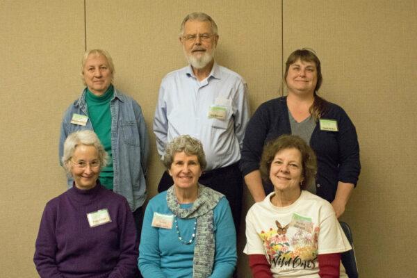 Board members Marsha Gebhardt, Wes Boshart, Penny Holtzmann, Fran Glass, Marilyn Chryst, and Dawn Weber