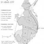 Map of early prairies in St. Louis City