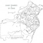 Map of early prairies in and around St. Louis