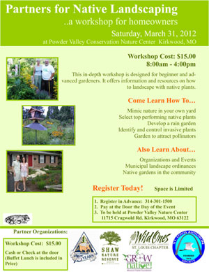 Native landscaping symposium flyer