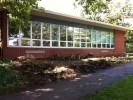 Completed native plant garden at Principia School