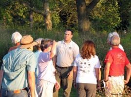 Forest Park Forever ecologist, Peter VanLinn III, speaking to Wild Ones