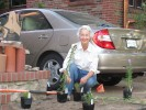 A St. Louis Wild Ones member prepares to plant native plants for the 2012 Landscape Makeover