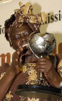 Wangari Maathai, Africa's first female Nobel Peace Prize winner, environmentalist and human rights activist