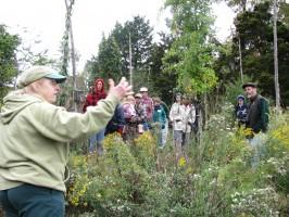 Joan explaining the deer study to Wild Ones members