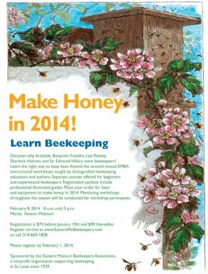 Beekeeping workshop flyer 2014