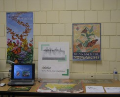 Monarch display explaining the importance of native plants