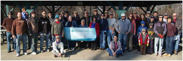 Saint Louis Audubon Society volunteers after a productive work day