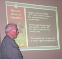 Bob Siemer speaking about monarch butterflies