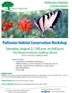 Nature Institute pollinator workshop flyer