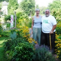 Homeowners who are selling their home, including  a yard with lots of native plants