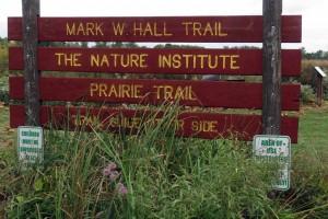 Heartland Prairie sign at Gordon Moore Park in Alton