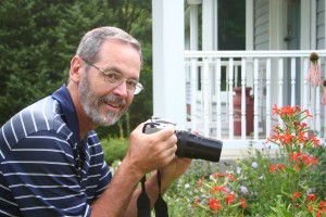Dave Tylka photographing wildflowers