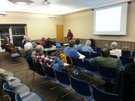 Susan McCrary from the Metropolitan Sewer District speaking to Wild Ones at the February 2015 meeting