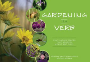 Gardening Is A Verg - book cover of a collection of essays by Cindy Gilberg