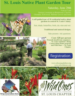 Flyer for the first St. Louis native plant garden tour
