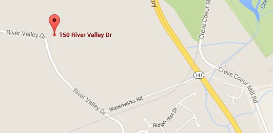 Map of 150 River Valley Dr