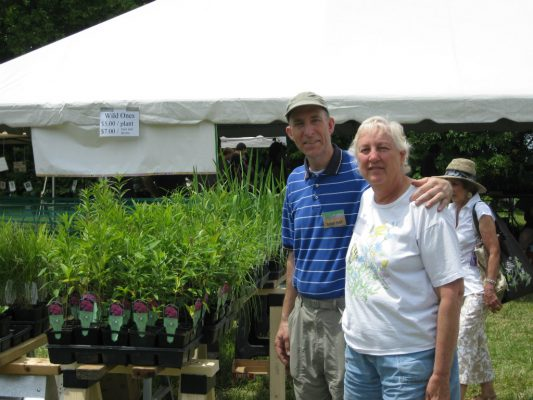 Brian E. Hall and Marilyn Chryst at the Shaw Wildflower Market